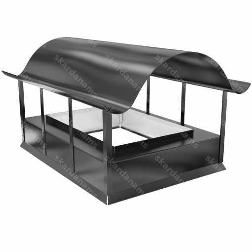 Dūmvada cepure tips 2. Skārda izstrādājums jumtiem.