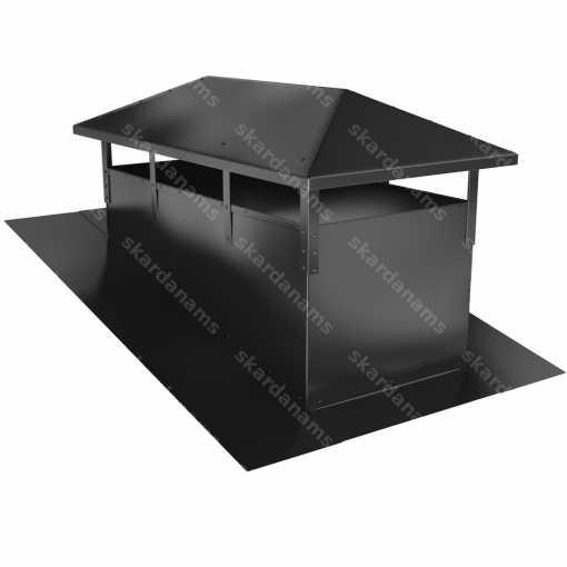 Dūmvada cepure tips 1. Skārda izstrādājums jumtiem.